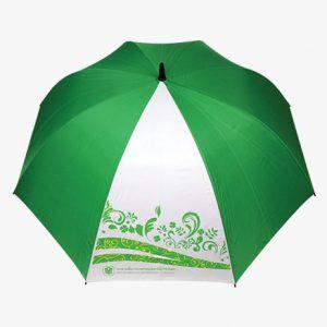 ร่มกอล์ฟ 30 นิ้ว 1 ชั้น_สีขาวเขียว