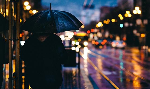 ร่มตอนเดียวในยามฝนตก